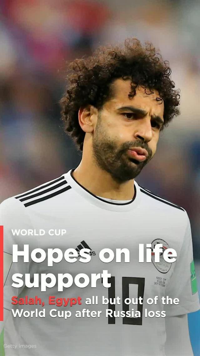 Mohamed Salah returned from a shoulder injury suffered in the Champions League final, but his second-half penalty was not enough to help Egypt avoid a 3-1 loss to host nation Russia.