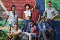 """<p><b>The one-sentence pitch:</b> <i>The Chi</i> follows the lives of a group of Chicagoans — an aspiring chef, grieving parents, a tween in the wrong place at the wrong time, a ladies' man, and a cop with a conscience — who become linked after the murder of a high school basketball star outside a South Side stash house.<br><br><b>What to expect:</b> """"The first and probably only drama I'll ever write,"""" jokes <i>Master of None</i> Emmy winner and <i>Chi </i>creator Lena Waithe, who was motivated to step outside her comedy comfort zone by current events. """"Black people are still being dehumanized — so much so that people are desensitized to us dying. I wanted to humanize the headlines and tell the story of the neighborhood where I grew up. Black folks are not a monolithic. How each of the characters survives this imperfect world is unique.""""<br><br><b>Hat trick:</b> Ntare Guma Mbaho Mwine (<i>The Knick</i>), who plays the charismatic deadbeat Ronnie, devised a chapeau-centric plan to combat the chill that came with shooting entirely in the Windy City. """"It was cold for me coming from L.A.,"""" he says. """"And besides I believe all bald men have a secret hat game that's making up for something else.""""<i> — CB</i><br><br>(Photo: Mathieu Young/Showtime) </p>"""