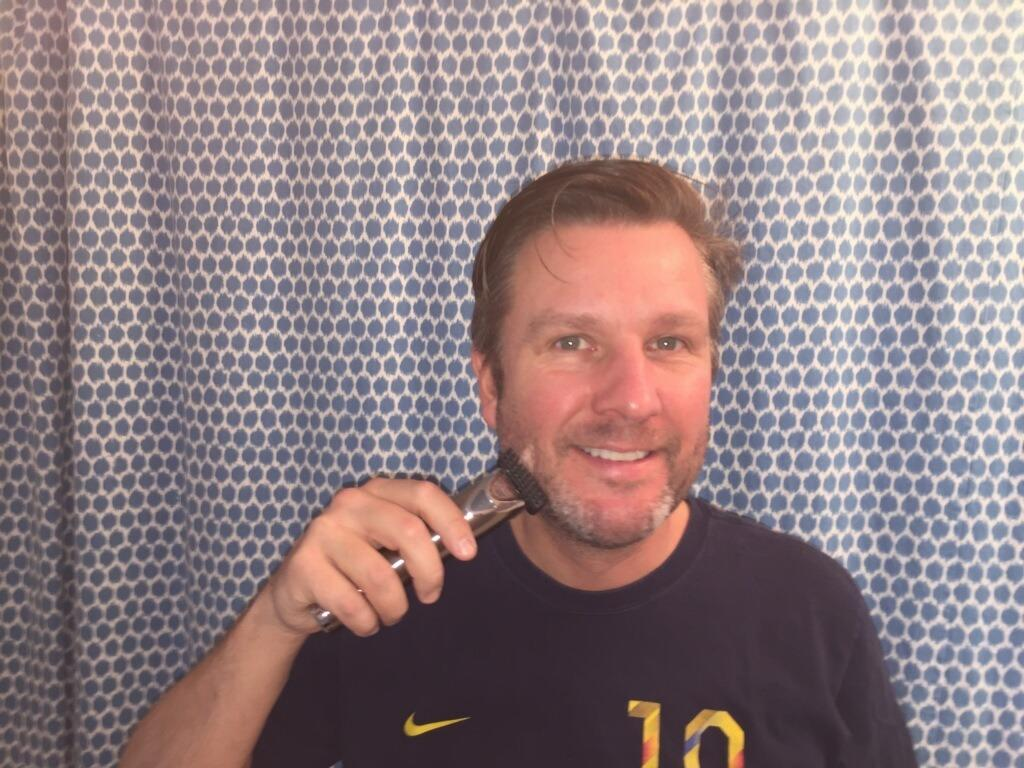 <p>The newest member of our beauty team? My husband Brooks testing out the coolest new beard trimmers for Yahoo Beauty.<br /></p>