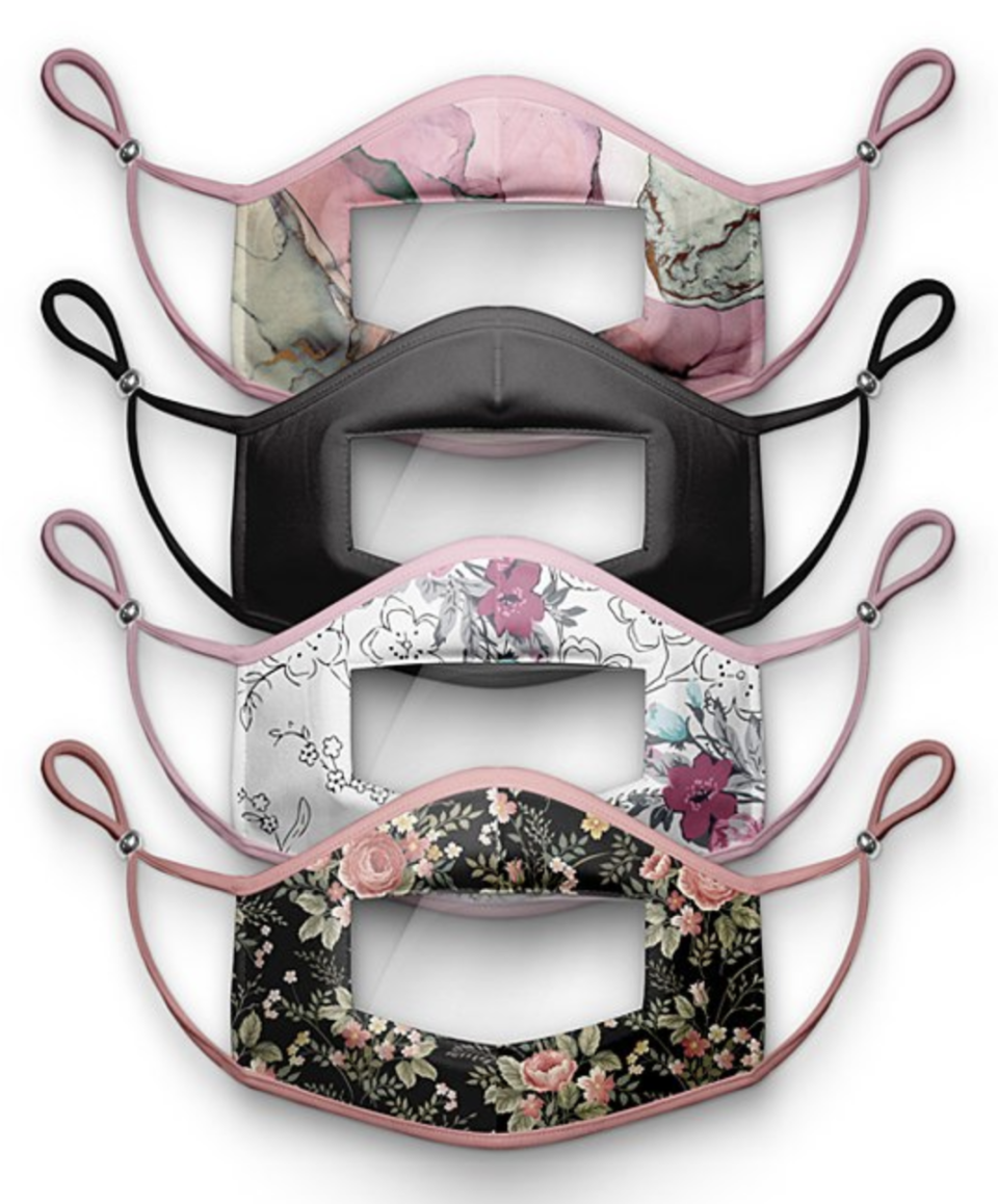 These fashionable floral masks will get compliments from students and parents alike. (Photo: Zulily)