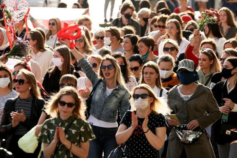 Belarus police detain dozens at women's rallies: rights group