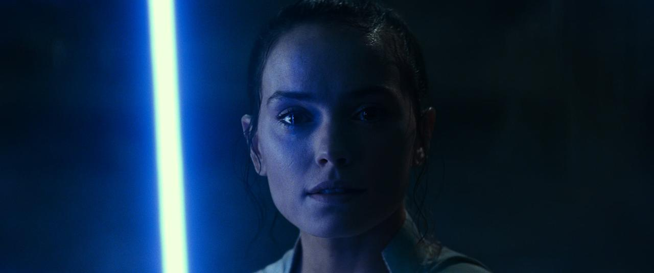<p>Though we never see Rey create her new yellow lightsaber in the film, we can safely assume that she created it herself. One of the milestones of becoming a Jedi includes building your lightsaber, and given that all of the former Jedis are dead (Luke, Leia, Yoda, Obi-Wan, etc.), it is safe to assume that Rey built it on her own. From the brief glimpse we get, it looks like she used the end of her trusty staff as the lightsaber's emitter and wrapped the center grip section with the same cloth that has been part of her ensemble since we first saw her in <b>The Force Awakens</b>.</p>