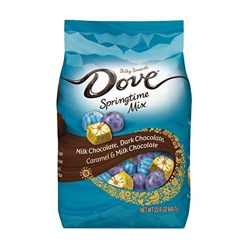 """<p><strong>Dove</strong></p><p>amazon.com</p><p><a href=""""https://www.amazon.com/dp/B01N4ENW7V?ie=UTF8&keywords=Candy+%26+Chocolate+Bars&tag=syn-yahoo-20&ascsubtag=%5Bartid%7C10070.g.2201%5Bsrc%7Cyahoo-us"""" rel=""""nofollow noopener"""" target=""""_blank"""" data-ylk=""""slk:Shop Now"""" class=""""link rapid-noclick-resp"""">Shop Now</a></p><p>The fun spring-themed wrappings of these love Dove chocolates will add bright pops of color to any Easter basket.</p>"""