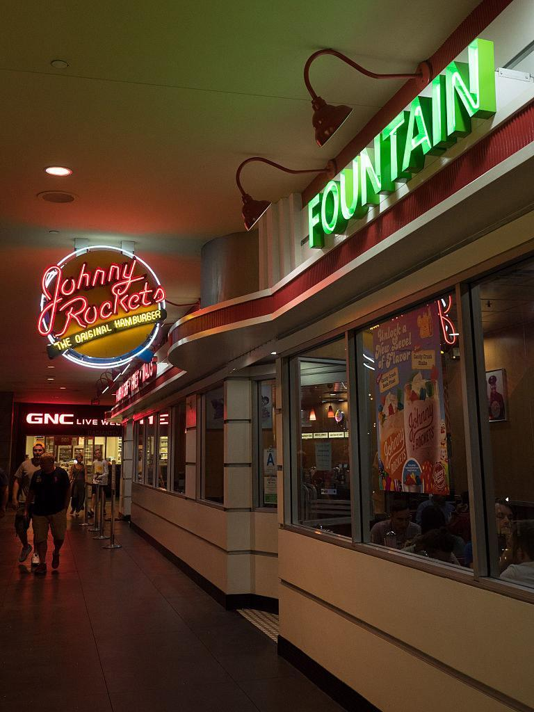 Johnny Rockets in a mall