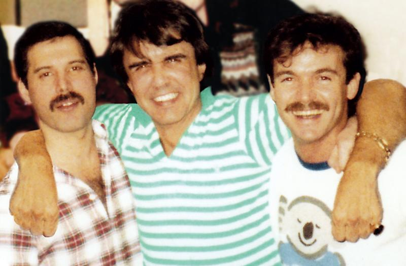 Freddie Mercury, Dave Clark, and John Christie. (Photo: Dave Clark International)