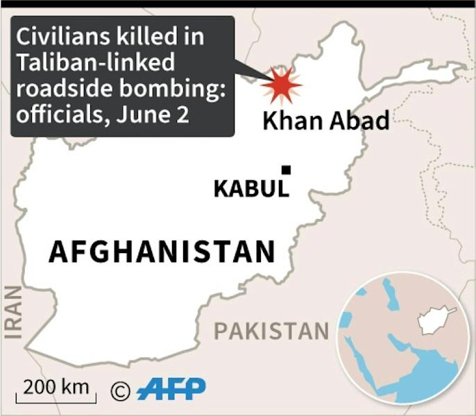 Map of Afghanistan locating an attack reported Tuesday (AFP Photo/)