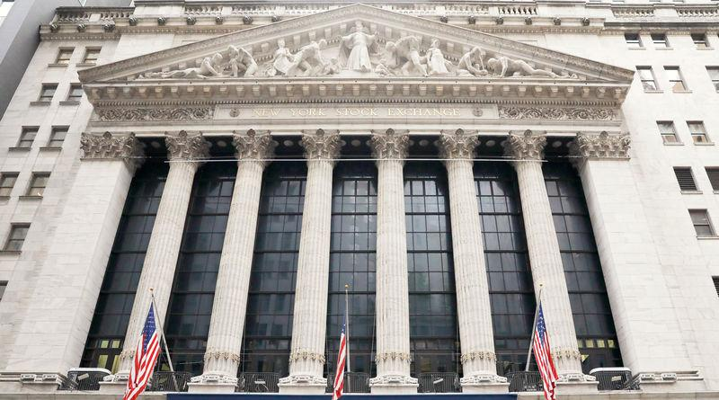 The New York Stock Exchange (NYSE) building in Manhattan in New York