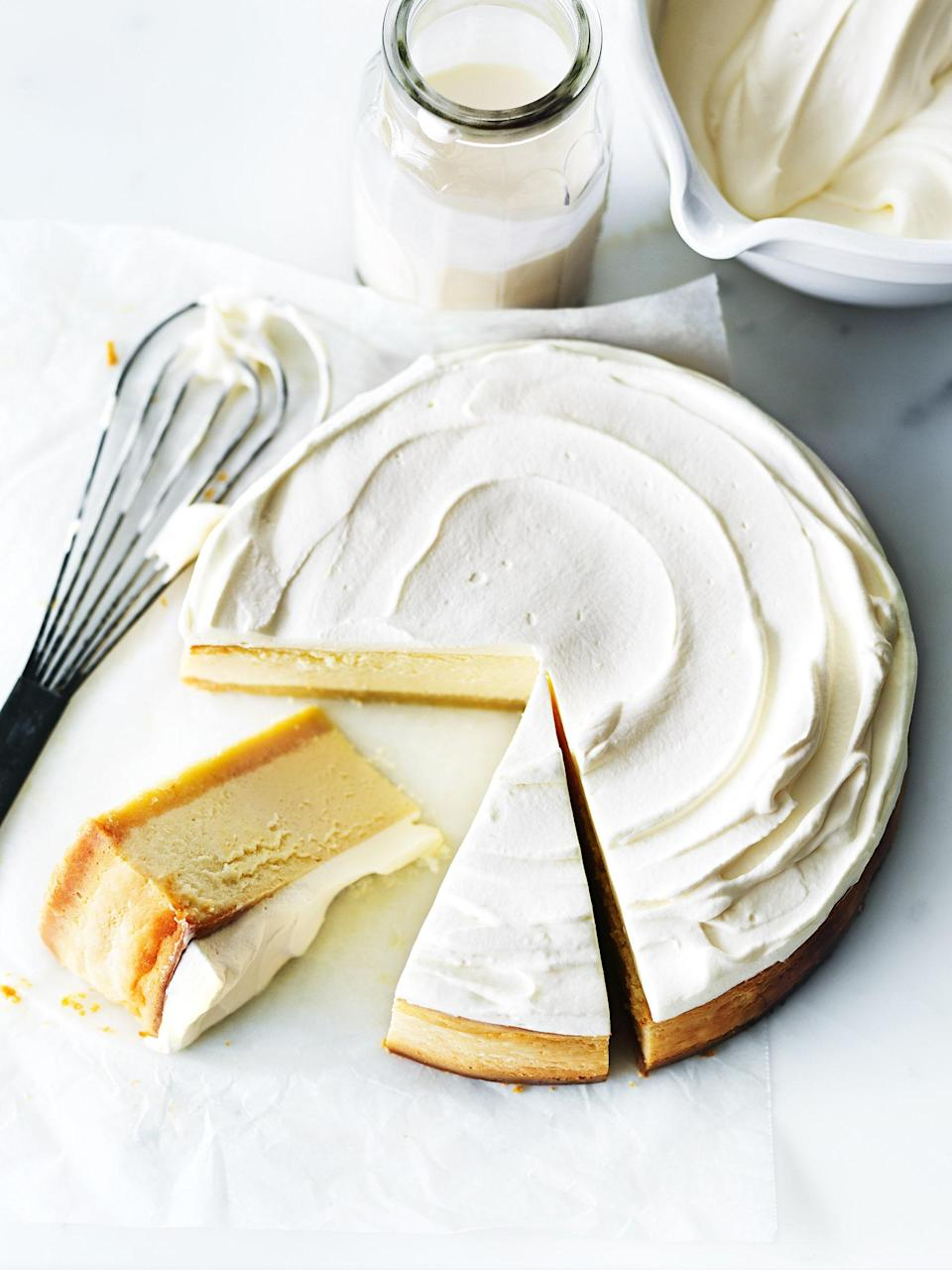 """You can't beat the classics when it comes to desserts, and this is one of the best. Zesty, creamy and light-as-air, this cake is completely heavenly. <a href=""""https://www.epicurious.com/recipes/food/views/classic-lemon-cheesecake-56390075?mbid=synd_yahoo_rss"""" rel=""""nofollow noopener"""" target=""""_blank"""" data-ylk=""""slk:See recipe."""" class=""""link rapid-noclick-resp"""">See recipe.</a>"""
