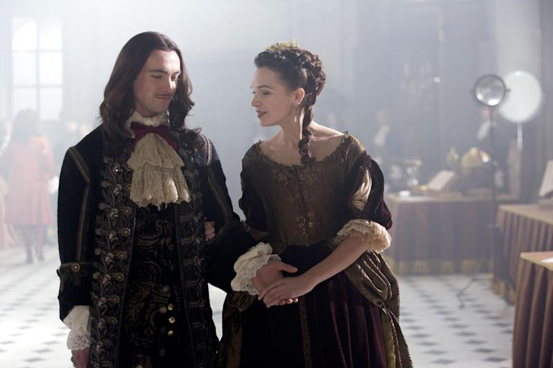 Back together: George Blagden and Anna Brewster as Louis XIV and Madame de Montespan (BBC/ Canal+)