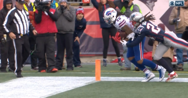 This was not a catch, apparently. (Via screenshot)