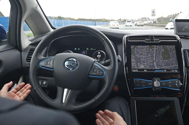 Embargoed to 0500 Tuesday May 23 File photo dated 06/03/17 of a demonstration of a prototype driverless car. Fewer than one in five UK motorists would trust driverless cars built by technology giants, according to new research.