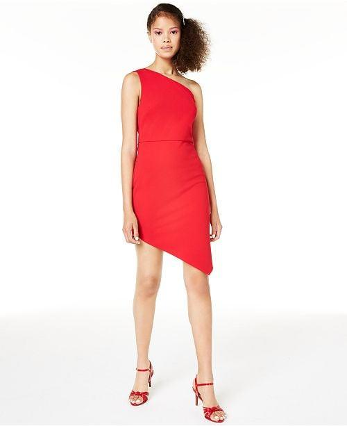 """<p>This cool <a href=""""https://www.popsugar.com/buy/Macy-One-Shoulder-Bodycon-Dress-488994?p_name=Macy%27s%20One-Shoulder%20Bodycon%20Dress&retailer=macys.com&pid=488994&price=59&evar1=fab%3Auk&evar9=46595285&evar98=https%3A%2F%2Fwww.popsugar.com%2Ffashion%2Fphoto-gallery%2F46595285%2Fimage%2F46596010%2FMacy-One-Shoulder-Bodycon-Dress&list1=shopping%2Cdresses%2Chigh%20school%2Chomecoming&prop13=api&pdata=1"""" rel=""""nofollow"""" data-shoppable-link=""""1"""" target=""""_blank"""" class=""""ga-track"""" data-ga-category=""""Related"""" data-ga-label=""""https://www.macys.com/shop/product/crystal-doll-juniors-asymmetrical-one-shoulder-bodycon-dress?ID=9490014&amp;CategoryID=197151#fn=sp%3D1%26spc%3D291%26ruleId%3D98%7CBOOST%20SAVED%20SET%26searchPass%3DmatchNone%26slotId%3D3"""" data-ga-action=""""In-Line Links"""">Macy's One-Shoulder Bodycon Dress</a> ($59) will stand out.</p>"""