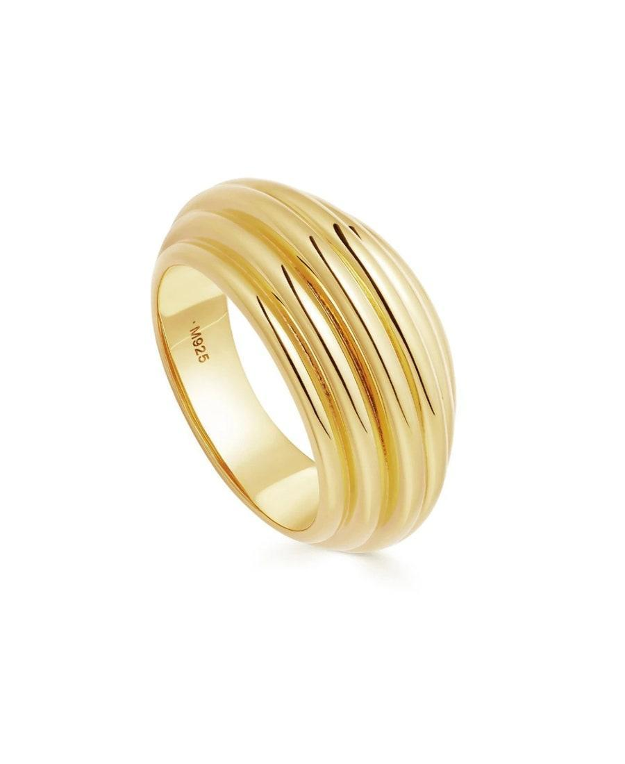 "Light and comfortable, you'll never want to take off Lucy Williams' signature Ridge Ring (except for washing your hands maybe). $110, Missoma. <a href=""https://www.missoma.com/collections/sale/products/lucy-williams-gold-large-ridge-ring?"" rel=""nofollow noopener"" target=""_blank"" data-ylk=""slk:Get it now!"" class=""link rapid-noclick-resp"">Get it now!</a>"