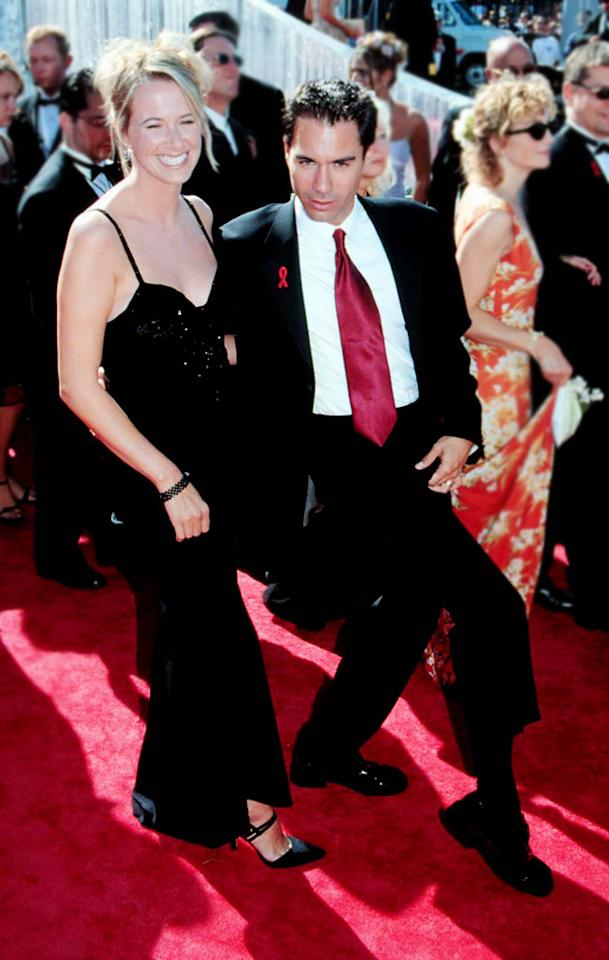 Eric McCormack and wife Janet Holden at the 51st Annual Emmy Awards in Los Angeles, California on September 12, 1999.