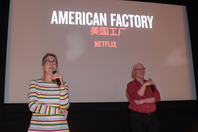 LONDON, ENGLAND - SEPTEMBER 19: Julia Reichert and Steven Bognar introduce the 'American Factory' screening hosted by NETFLIX on September 19, 2019 in London, England. (Photo by David M. Benett/Dave Benett/Getty Images for NETFLIX)