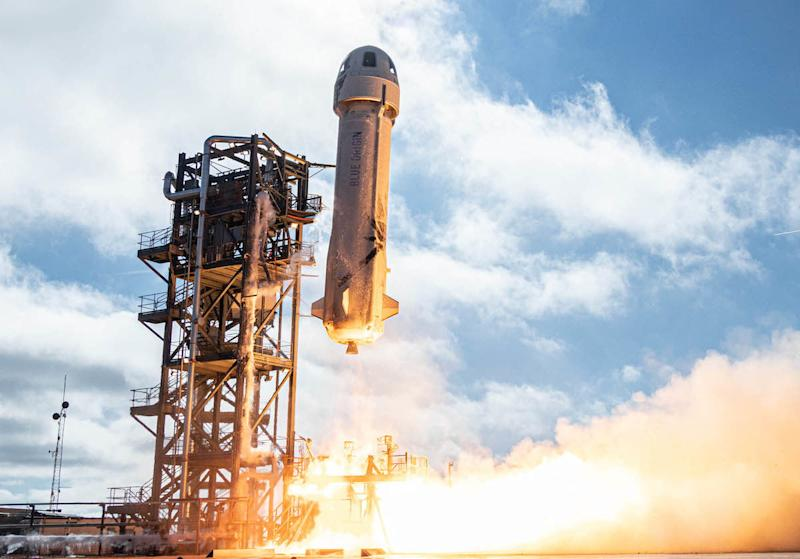 How to watch Blue Origin launch and land its reusable rocket today