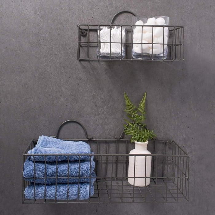 """<br><br><strong>Pier 1 Imports</strong> Wire Wall Basket(Set of 2) Grey, $, available at <a href=""""https://go.skimresources.com/?id=30283X879131&url=https%3A%2F%2Fwww.pier1.com%2Fproducts%2Fdii-wire-wall-basketset-of-2-grey"""" rel=""""nofollow noopener"""" target=""""_blank"""" data-ylk=""""slk:Pier 1 Imports"""" class=""""link rapid-noclick-resp"""">Pier 1 Imports</a>"""