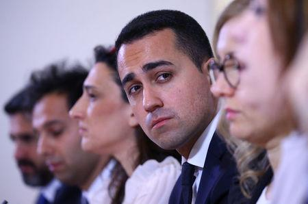 Luigi Di Maio of the 5-Star Movement looks on as he attends a news conference in Rome, Italy March 23, 2017. REUTERS/Alessandro Bianchi