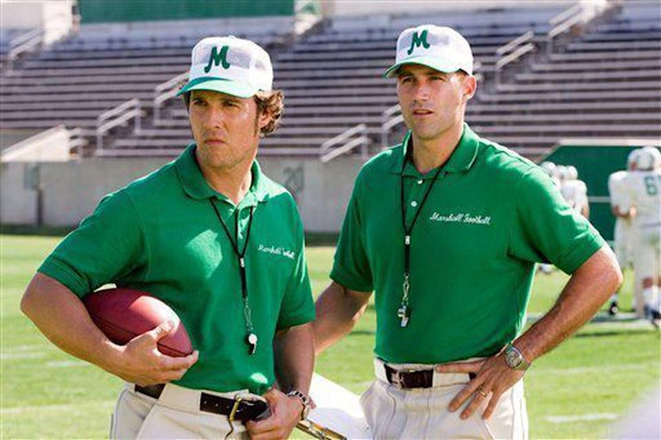 <p><strong><em>We Are Marshall </em></strong></p><p>Yeah, another football film... we KNOW. But there aren't a TON of options for West Virginia, so there's this biopic about Matthew McConaughey and Matthew Fox taking over a team after many coaches and players were lost in a plane crash. Yay, sports. </p>