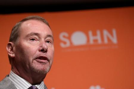 FILE PHOTO: Jeffrey Gundlach,CEO of DoubleLine Capital LP, presents during the 2019 Sohn Investment Conference in New York