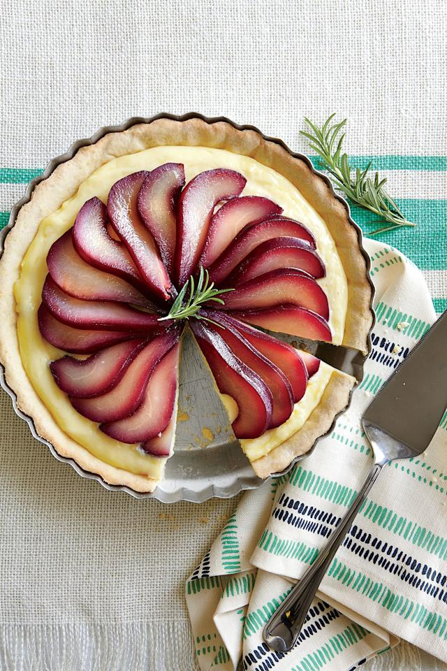 """<p>A pinwheel of beautiful pears makes the perfect topping for this luscious pie.</p> <ul><li><strong>Recipe:</strong> <a href=""""http://www.myrecipes.com/recipe/almond-pear-pie"""" target=""""_blank"""">Almond-Pear Pie</a></li> </ul>"""