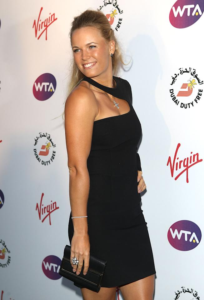 LONDON, ENGLAND - JUNE 21: Caroline Wozniacki arrives at the WTA Tour Pre-Wimbledon Party at The Roof Gardens, Kensington on June 21, 2012 in London, England. (Photo by Tom Dulat/Getty Images for WTA)