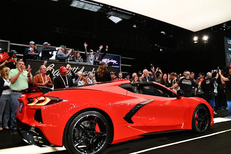 2020 Corvette Stingray VIN 0001 was auction for $3 million at Barrett-Jackson to benefit the Detroit.