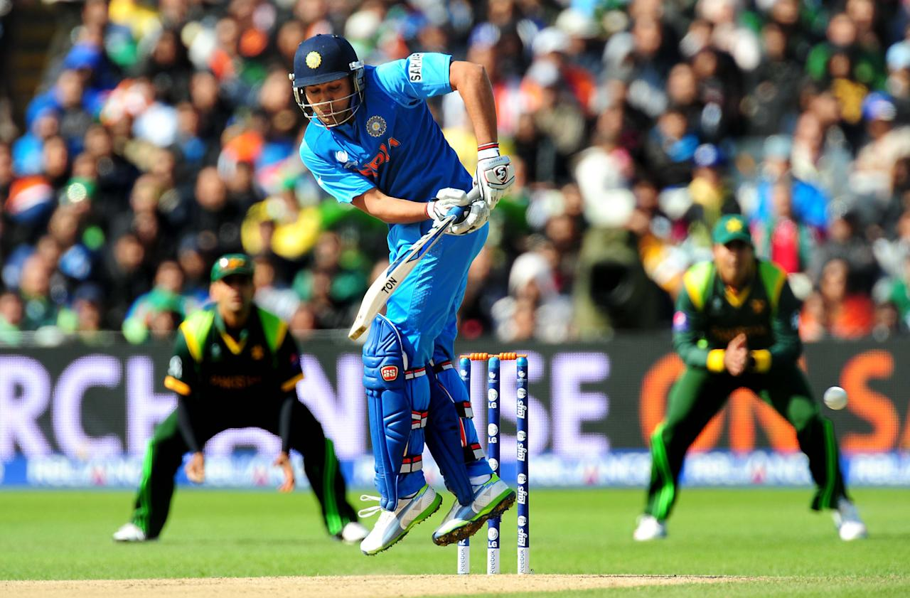 India's Rohit Sharma bats during the ICC Champions Trophy match at Edgbaston, Birmingham.