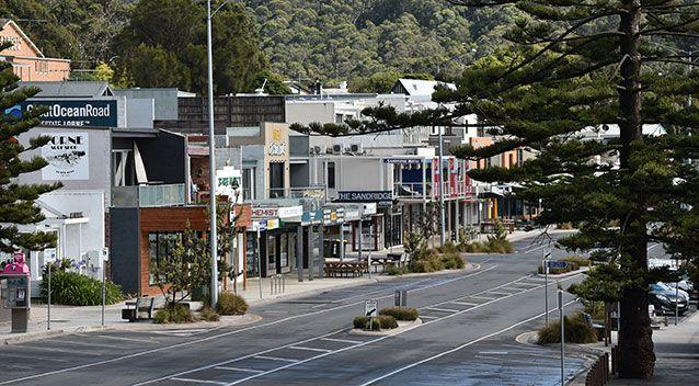 Popular tourist town of Lorne was temporarily deserted. Source: AAP