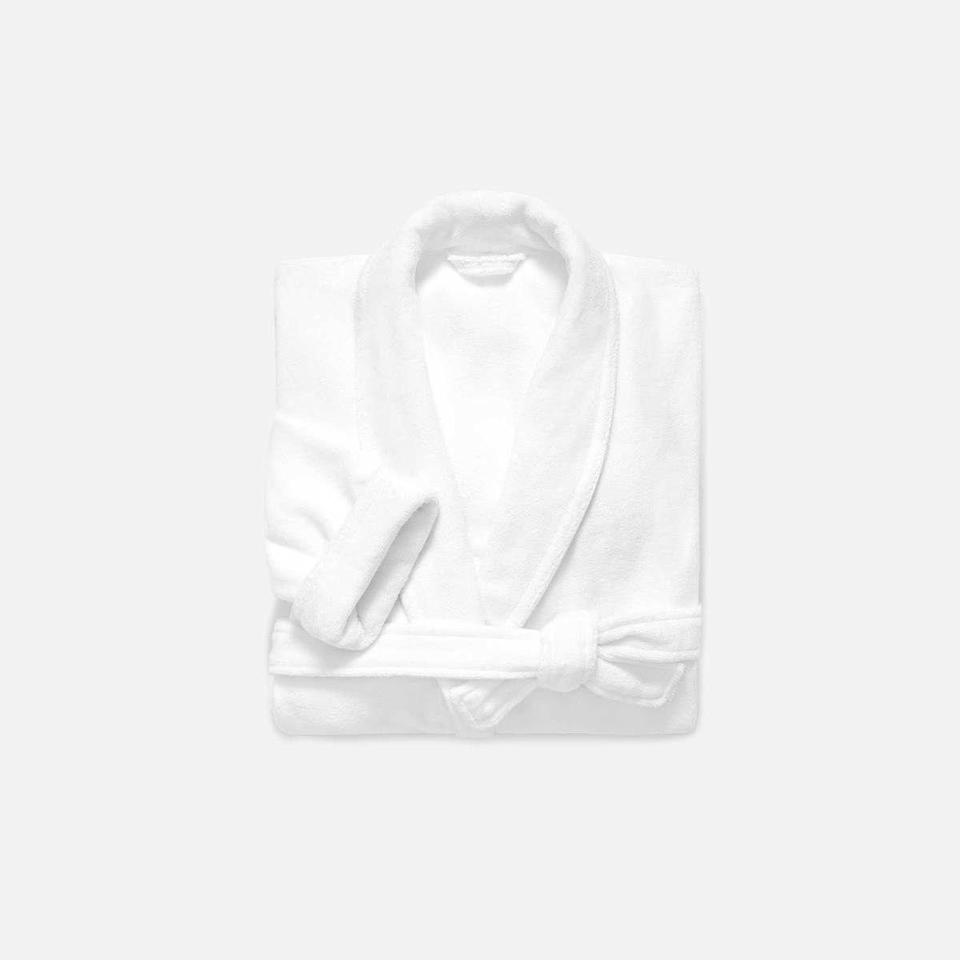 """<p><strong>Brooklinen</strong></p><p>brooklinen.com</p><p><strong>$83.30</strong></p><p><a href=""""https://go.redirectingat.com?id=74968X1596630&url=https%3A%2F%2Fwww.brooklinen.com%2Fproducts%2Fsuper-plush-robe&sref=https%3A%2F%2Fwww.bestproducts.com%2Fhome%2Fg34362290%2Fbrooklinen-amazon-prime-day-sale-2020%2F"""" rel=""""nofollow noopener"""" target=""""_blank"""" data-ylk=""""slk:Shop Now"""" class=""""link rapid-noclick-resp"""">Shop Now</a></p><p>Take your WFH outfit up a couple of notches with a brand new robe. Brooklinen's pristine, plush style will transform your home office into a soothing, spa-like sanctuary.</p>"""