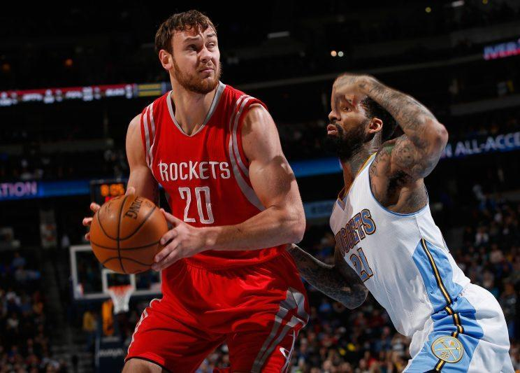 Donatas Motiejunas has been hampered by back issues. (Getty Images)