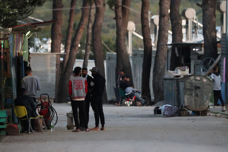 Migrants are seen at the Ritsona camp, during a nationwide lockdown to contain the spread of the coronavirus disease (COVID-19), in Ritsona