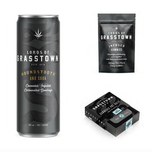 Lords of Grasstown branding and package design concepts for new products.