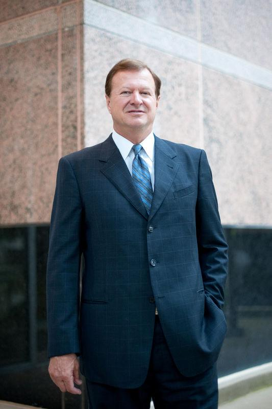 Chairman and Chief Executive Officer of Magnum Hunter Resources Corporation, Gary C. Evans, poses for a portrait at the company's new headquarters in Irving