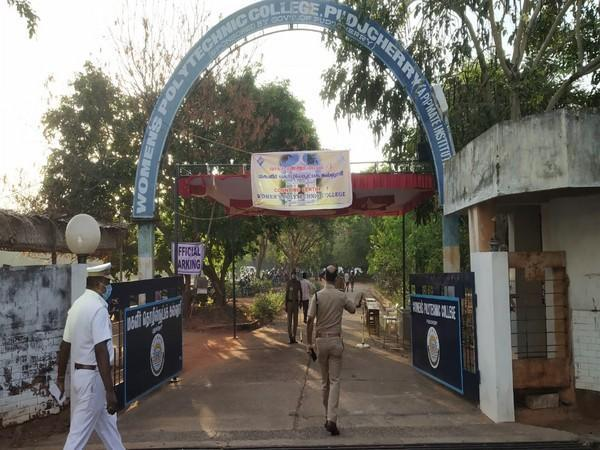 Visual from a polling centre in Puducherry.