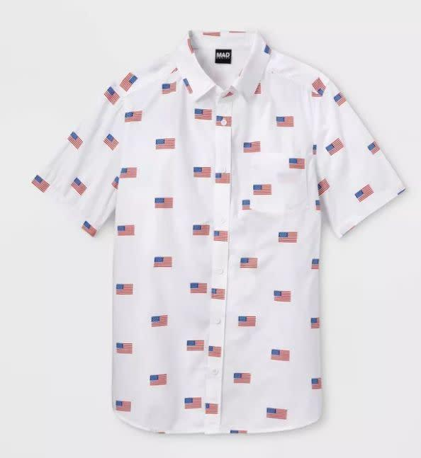 "Find this men's button-down for $23 at <a href=""https://yhoo.it/2ZoXMPk"" rel=""nofollow noopener"" target=""_blank"" data-ylk=""slk:Target"" class=""link rapid-noclick-resp"">Target</a>."