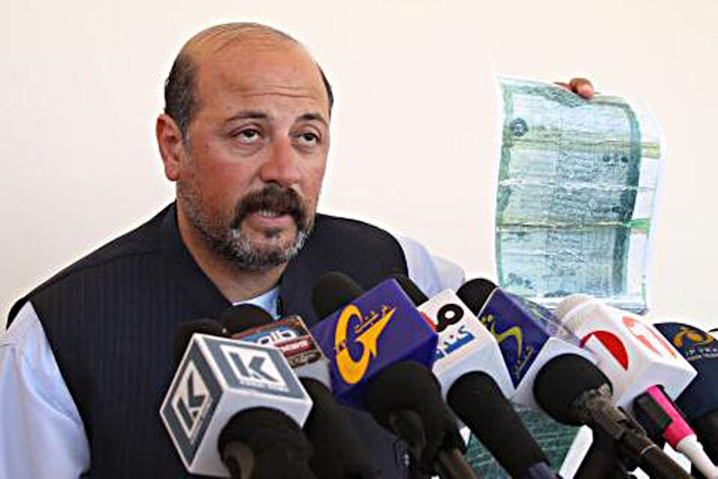 In this photograph taken on February 21, 2013, Hashmat Karzai speaks during a press conference in Kanadahar (AFP Photo/)