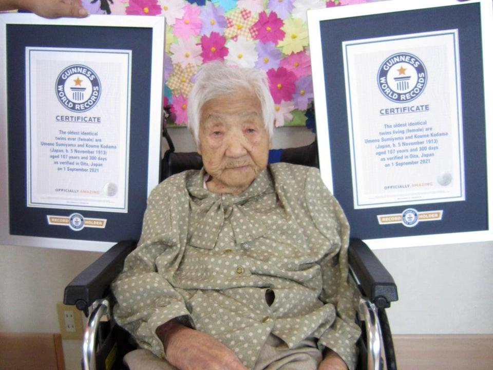 Koume Kodama, who is living separately from her sister in care homes 300km apart  (Guinness World Records)