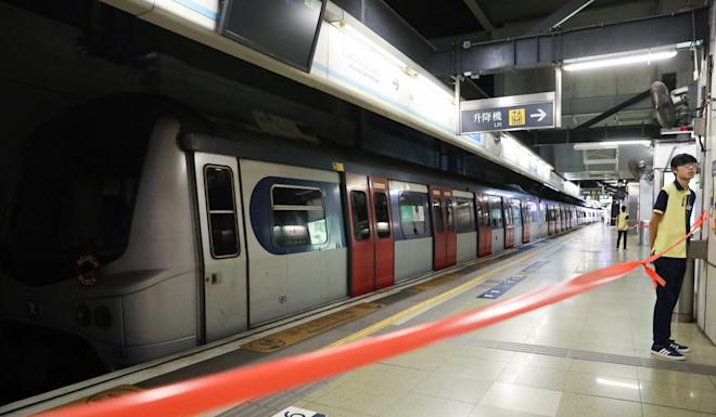 A platform at Hung Hom remained closed early on Wednesday but another one had reopened as services returned to the interchange. Photo: Nora Tam