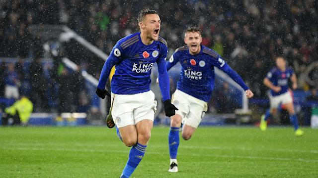 Superb goals from Jamie Vardy and James Maddison lifted Leicester City into second as Brendan Rodgers' side made light work of Arsenal.
