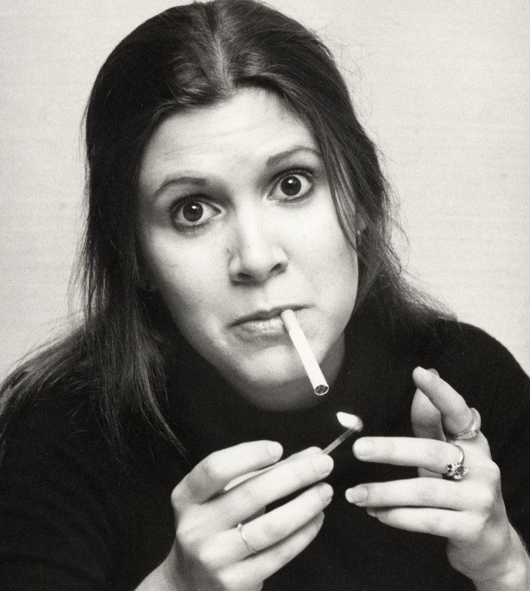 <p>Carrie Fisher during a Thanksgiving party at Sybil's in New York, Nov. 21, 1977. (Photo: Ron Galella/WireImage)</p>