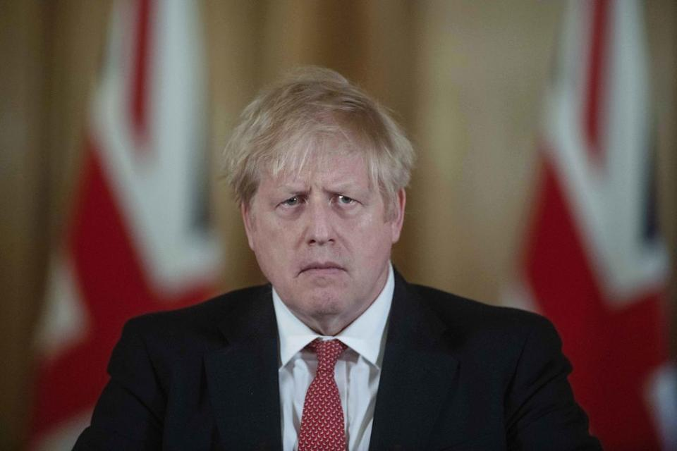 Boris Johnson addresing the UK people and implementing a restrictive lockdown for the nation. Source: Getty