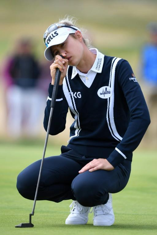 Tough day - Nelly Korda struggled on the greens during the second round of the Women's British Open at Carnoustie on Friday