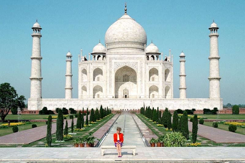 Princess Diana made a Taj Mahal stop while on a tour of India.
