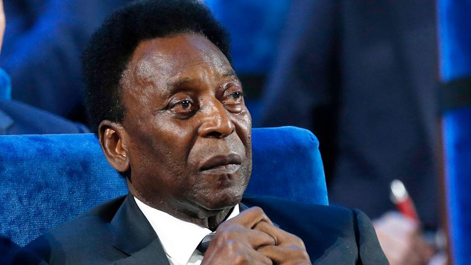 Pele is in hospital after having a tumour removed from his colon. Pic: AAP