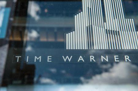 Signage that reads Time Warner at the Time Warner Center in New York City