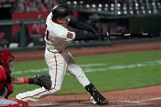 Trout gets another up-and-in heater from SF pitcher in loss