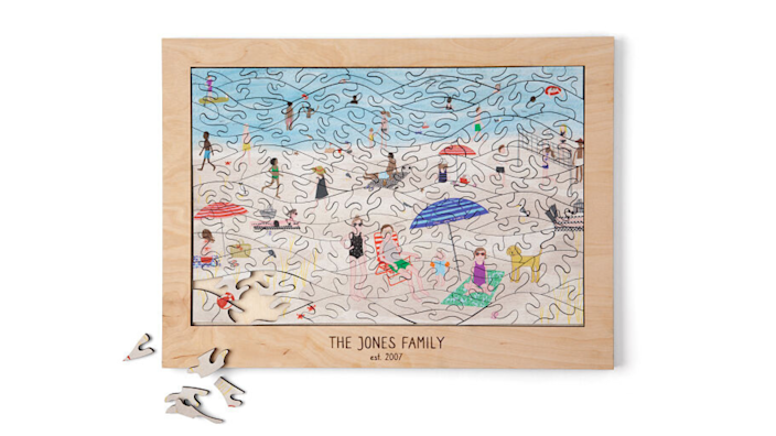 Best personalized gifts 2020: At the Beach Personalized Family Puzzle