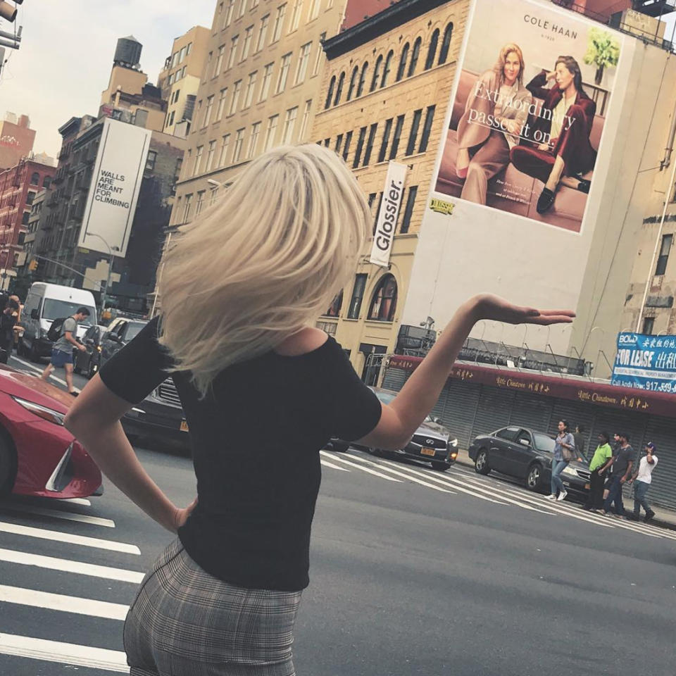 "<p>Kloss spotted a familiar face posed alongside supermodel Christy Turlington in a giant ad on the side of a Big Apple building. ""Surreal to be sitting on Canal Street with this legend @cturlington,"" she wrote in part. (Photo: <a rel=""nofollow"" href=""https://www.instagram.com/p/BZEHZJ8ln64/?taken-by=karliekloss"">Karlie Kloss via Instagram</a>) </p>"