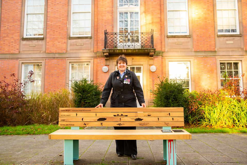 Claire and her charity help reduce inequality and loneliness by assisting the most vulnerable veterans in Greater Manchester